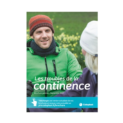 Visuel de la brochure marketing Continence Coloplast